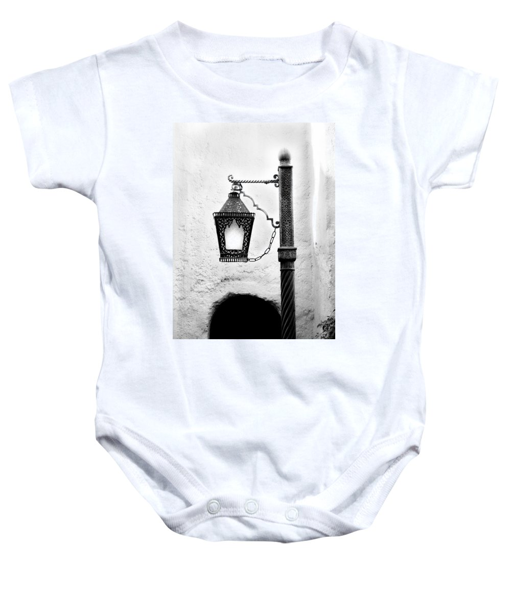 Morocco Baby Onesie featuring the photograph Black Light by Greg Fortier