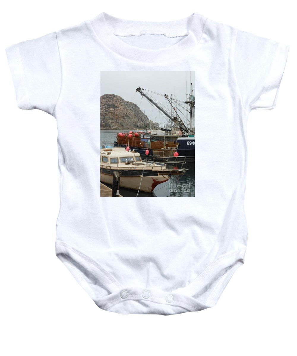 Ships Baby Onesie featuring the photograph Boats On Morro Bay by Charlotte Stevenson