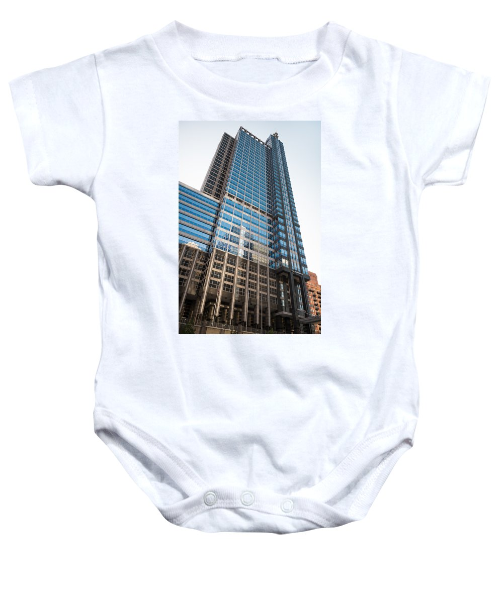 Boeing Baby Onesie featuring the photograph Boeing World Hq Chicago by Steve Gadomski