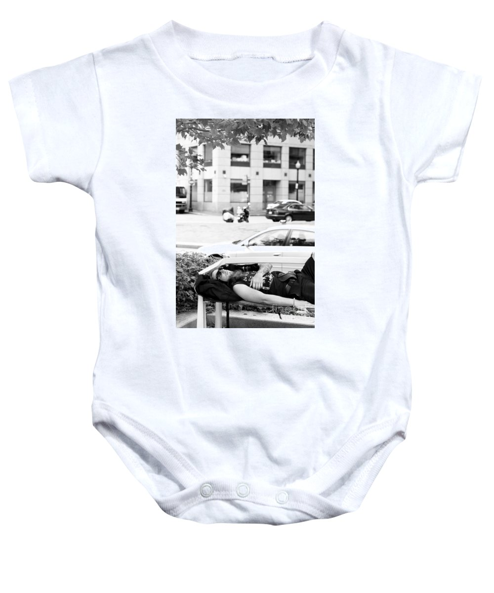 Baby Onesie featuring the photograph Boston Nap by Sara Schroeder