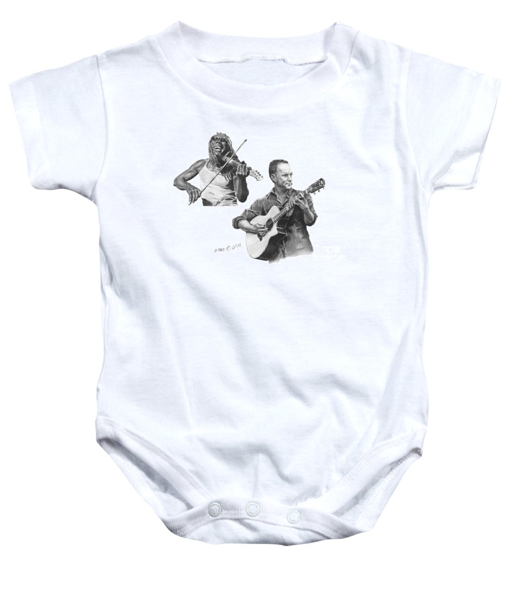 Man Baby Onesie featuring the drawing Boyd And Dave by Marianne NANA Betts