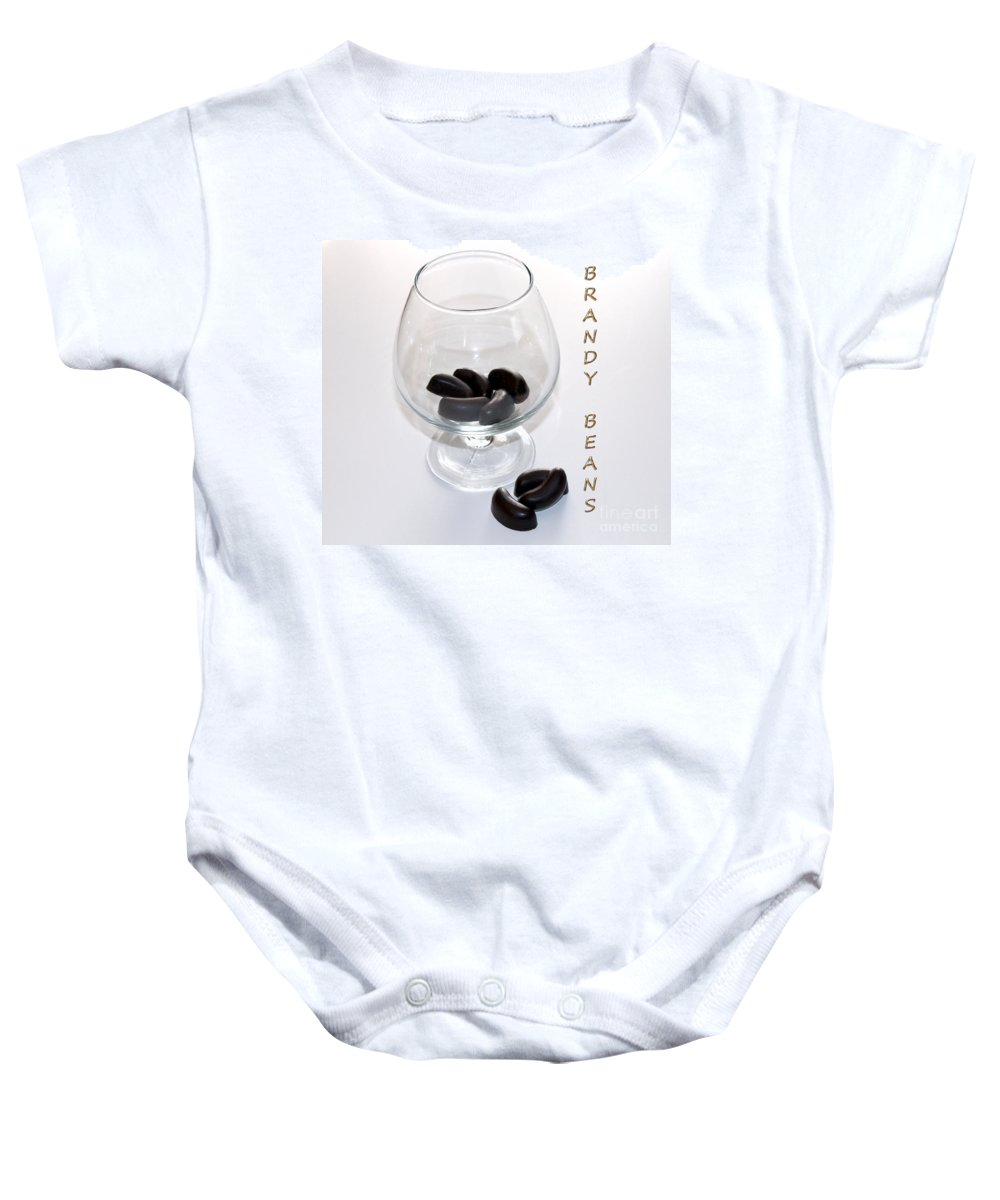 Brandy Baby Onesie featuring the photograph Brandy Beans - Liqueur - Chocolate by Barbara Griffin