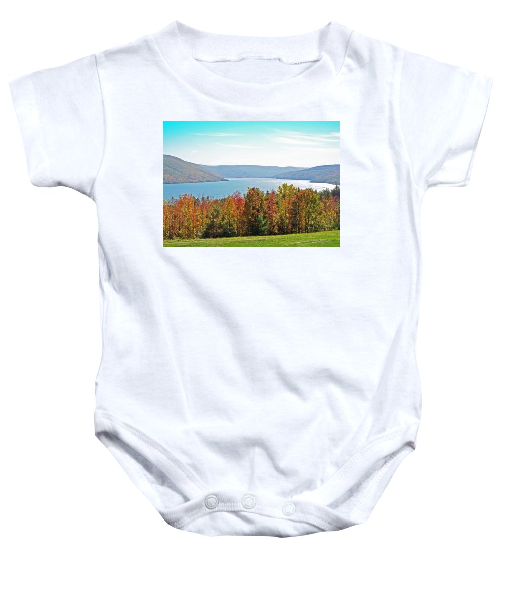 Landscape Baby Onesie featuring the photograph Bristol Harbour View by Aimee L Maher ALM GALLERY