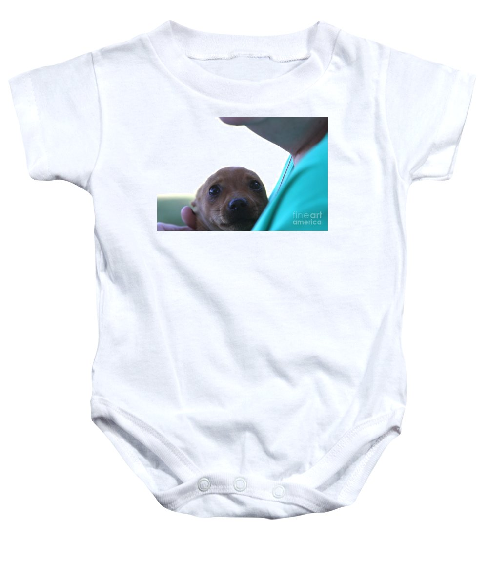 Brutus The Ii In Love Baby Onesie featuring the photograph Brutus The II In Love by L L L