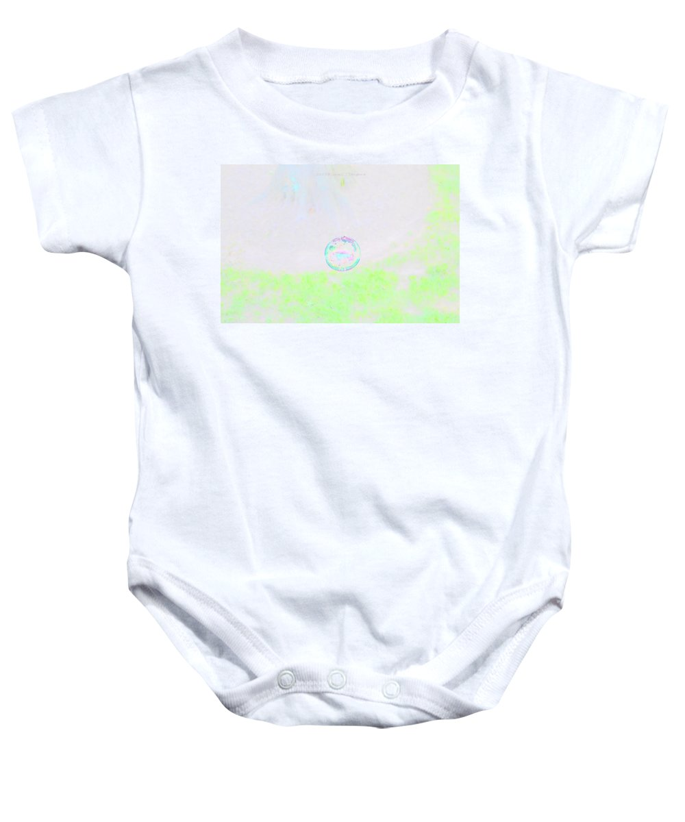 Bubble World Baby Onesie featuring the photograph Bubble Of Joy by Sonali Gangane