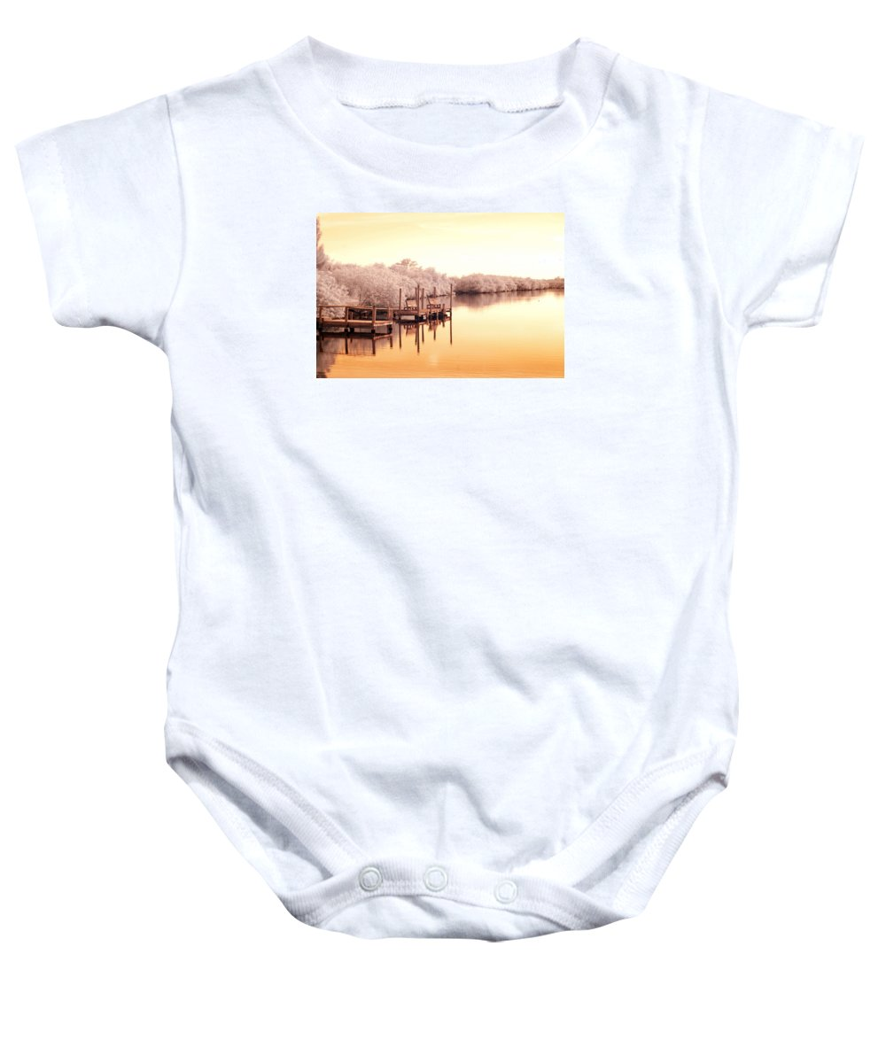Near Baby Onesie featuring the photograph Bull Frog Creek Gibsonton Fl Usa Near Infrared by Sally Rockefeller