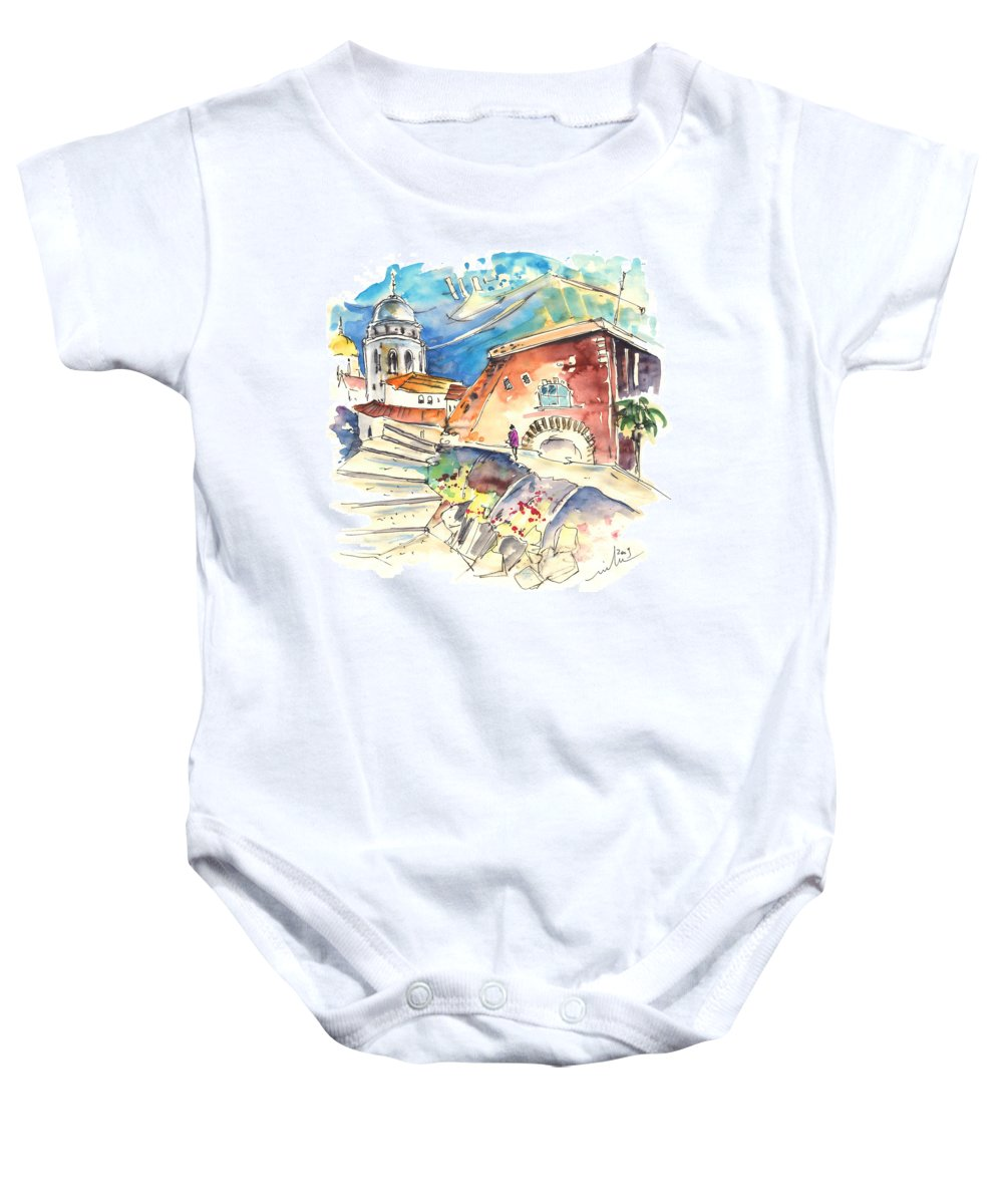 Travel Baby Onesie featuring the painting Cadiz Spain 03 by Miki De Goodaboom