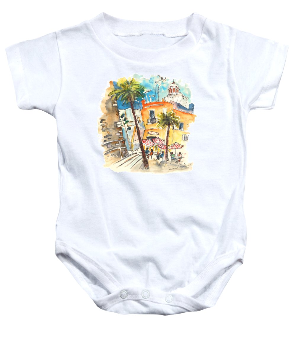 Travel Baby Onesie featuring the painting Cadiz Spain 04 by Miki De Goodaboom