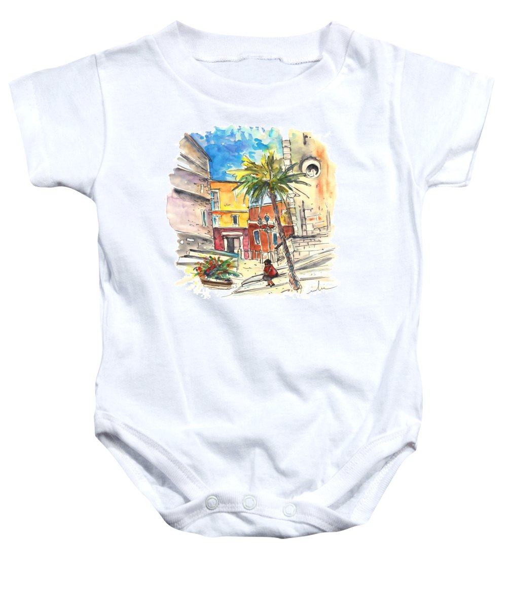 Travel Baby Onesie featuring the painting Cadiz Spain 05 by Miki De Goodaboom