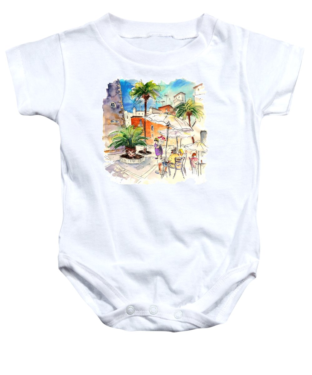 Travel Baby Onesie featuring the painting Cadiz Spain 13 by Miki De Goodaboom
