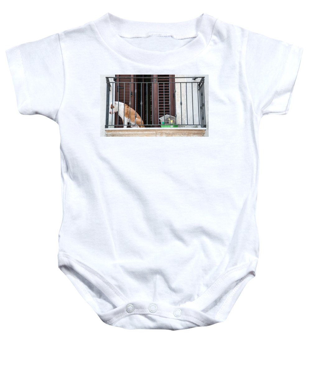 Dog Baby Onesie featuring the photograph Cages by Michele Mule
