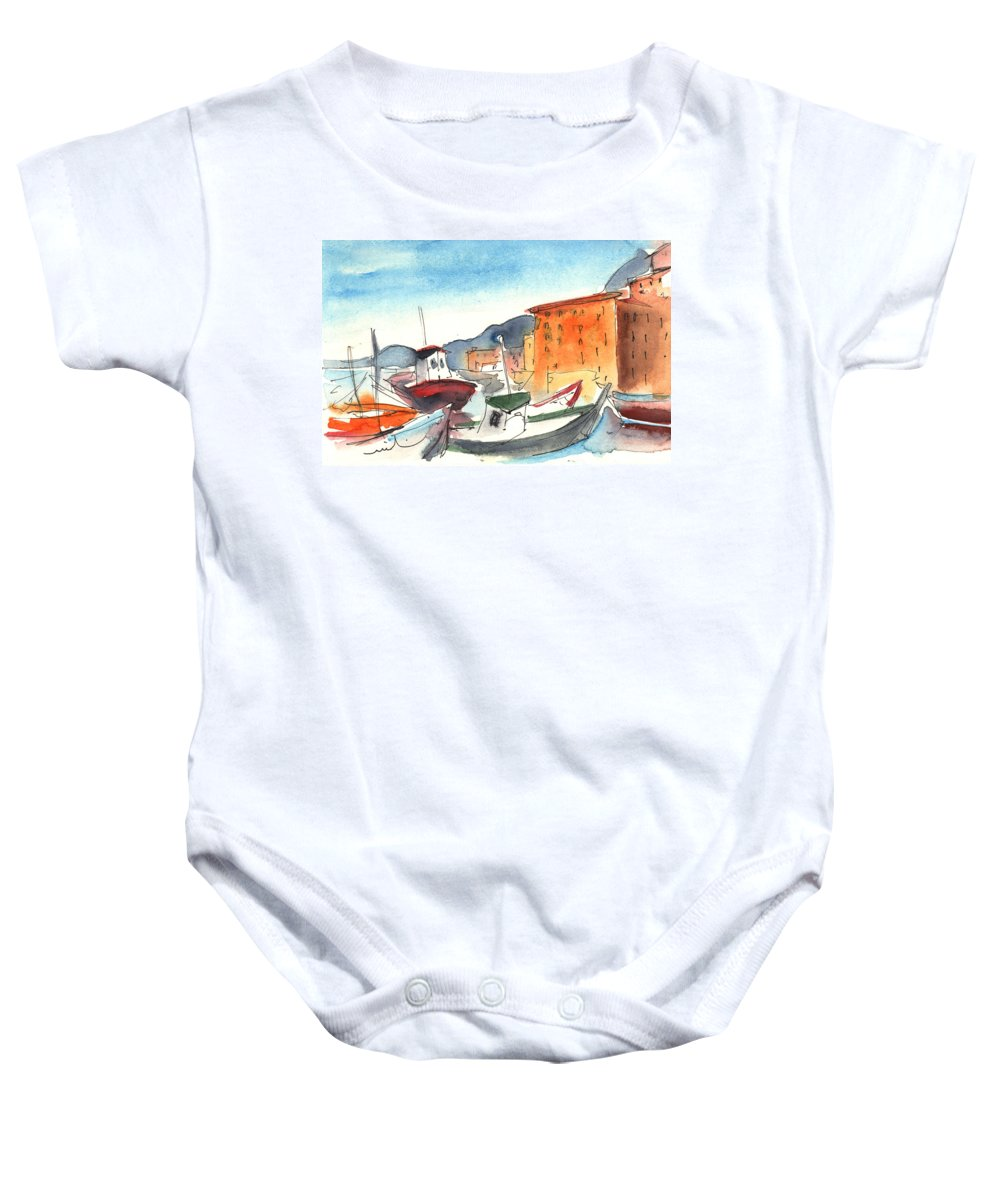 Italy Baby Onesie featuring the painting Camogli In Italy 02 by Miki De Goodaboom