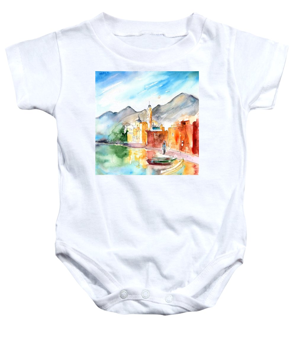 Italy Baby Onesie featuring the painting Camogli In Italy 11 by Miki De Goodaboom