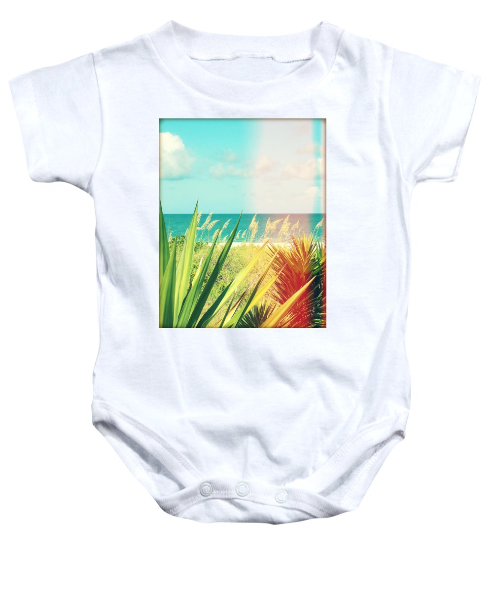 Florida Baby Onesie featuring the photograph Captiva Photography Light Leaks1 by Chris Andruskiewicz