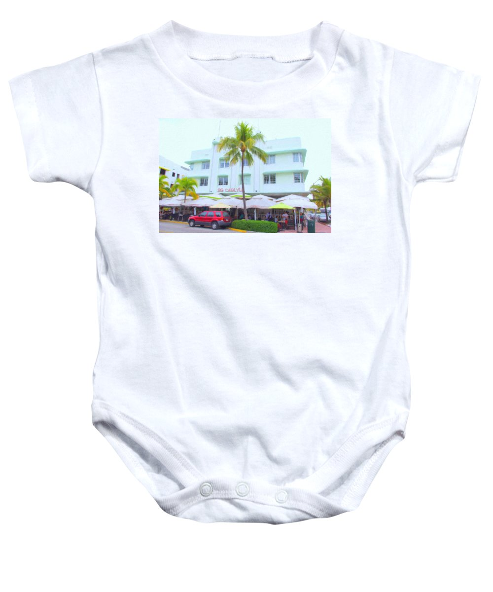 Art Deco Baby Onesie featuring the photograph Carlyle by Tom Reynen