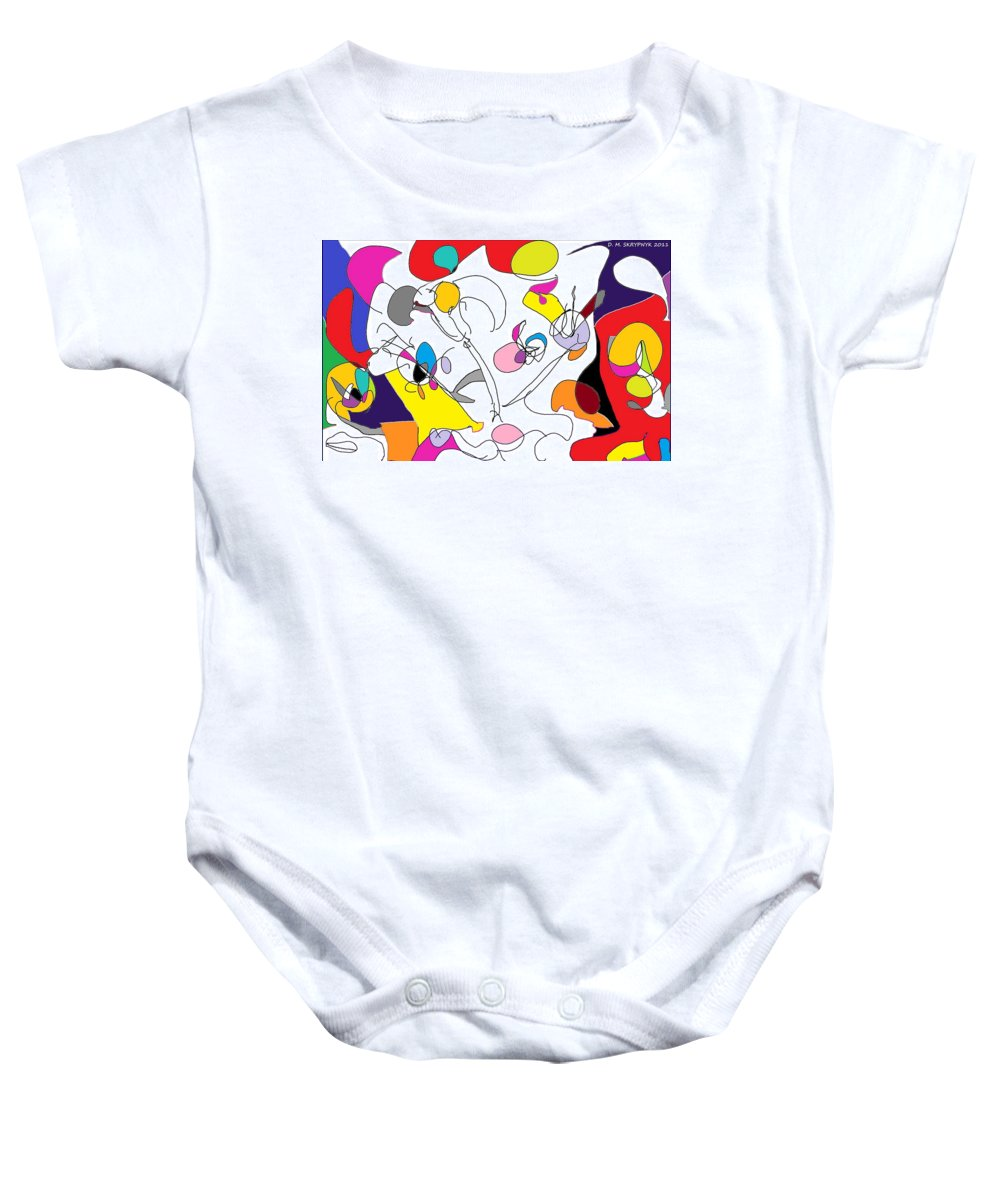 Carnival Baby Onesie featuring the digital art Carnival by David Skrypnyk