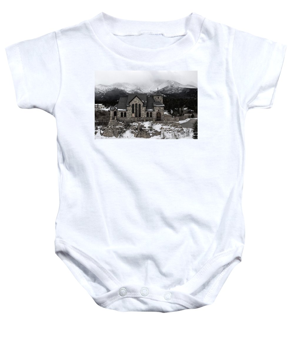 Chapel Baby Onesie featuring the photograph Chapel On The Rock - 3 by Becca Buecher