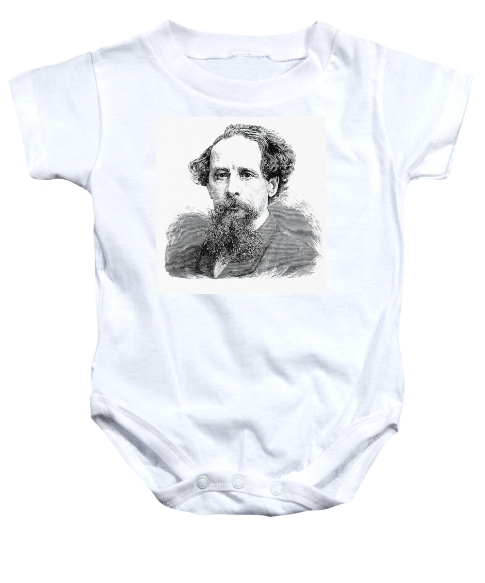 Literature Baby Onesie featuring the photograph Charles Dickens, English Author by British Library