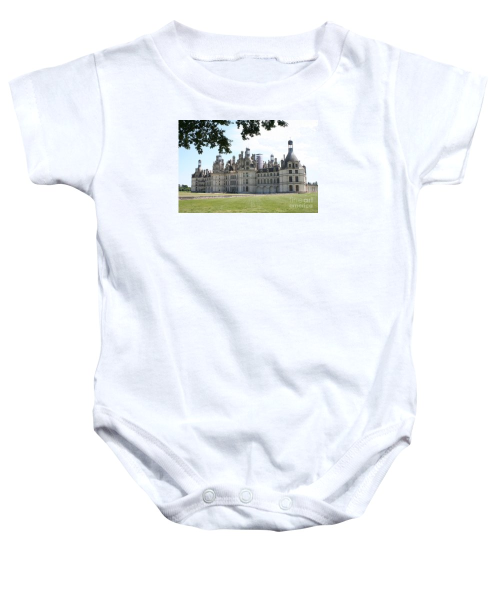 Palace Baby Onesie featuring the photograph Chateau Chambord - France by Christiane Schulze Art And Photography