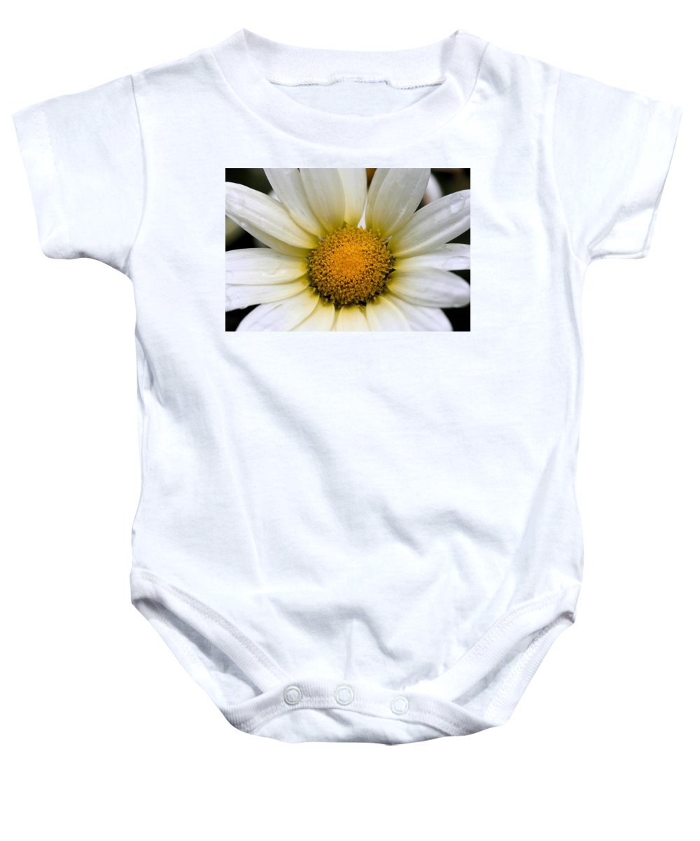 Flower Baby Onesie featuring the photograph Cheery Daisy by Angela Rath