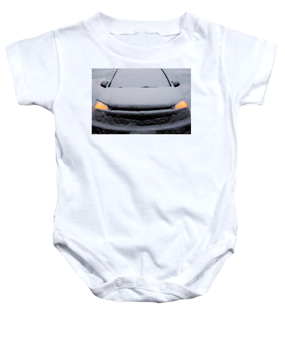 Chevy Baby Onesie featuring the photograph Chevy Equinox by Dragan Kudjerski