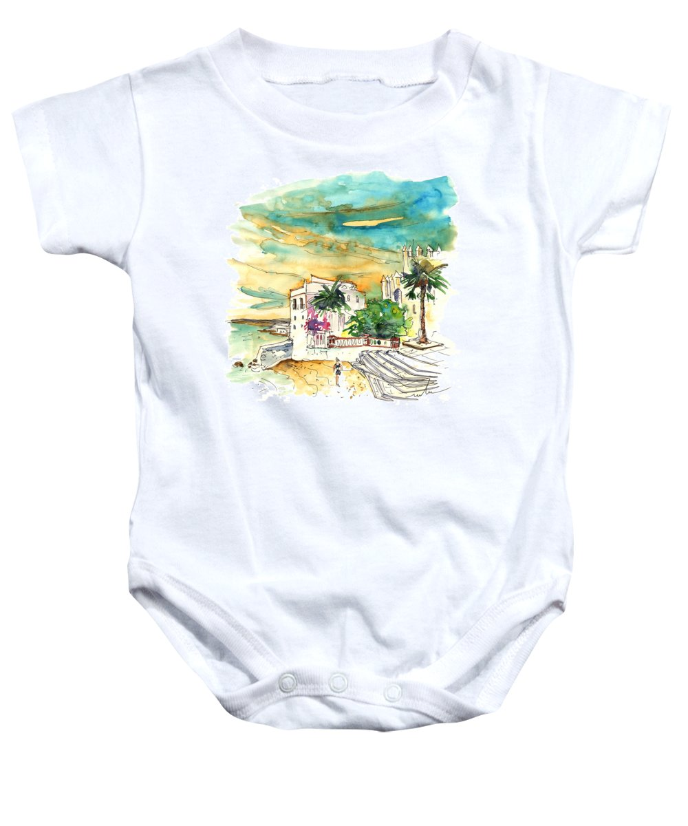 Travel Baby Onesie featuring the painting Chipiona Spain 04 by Miki De Goodaboom