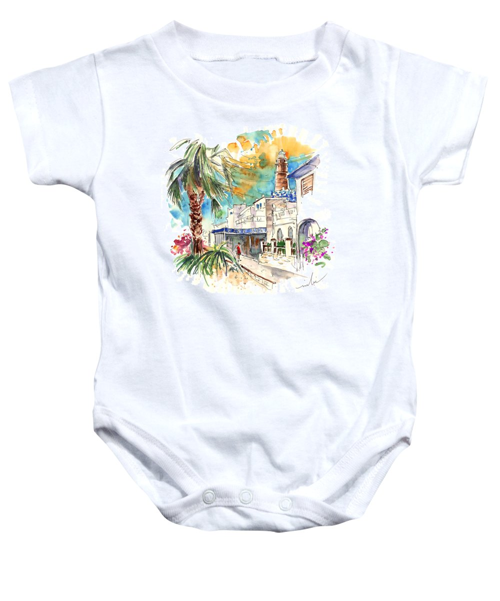 Travel Baby Onesie featuring the painting Chipiona Spain 05 by Miki De Goodaboom