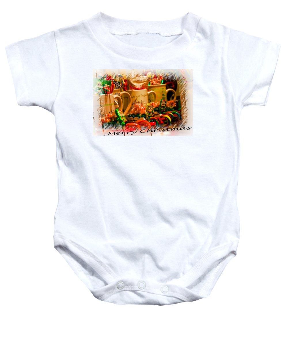 Candy Baby Onesie featuring the photograph Christmas Candies by Sherman Perry