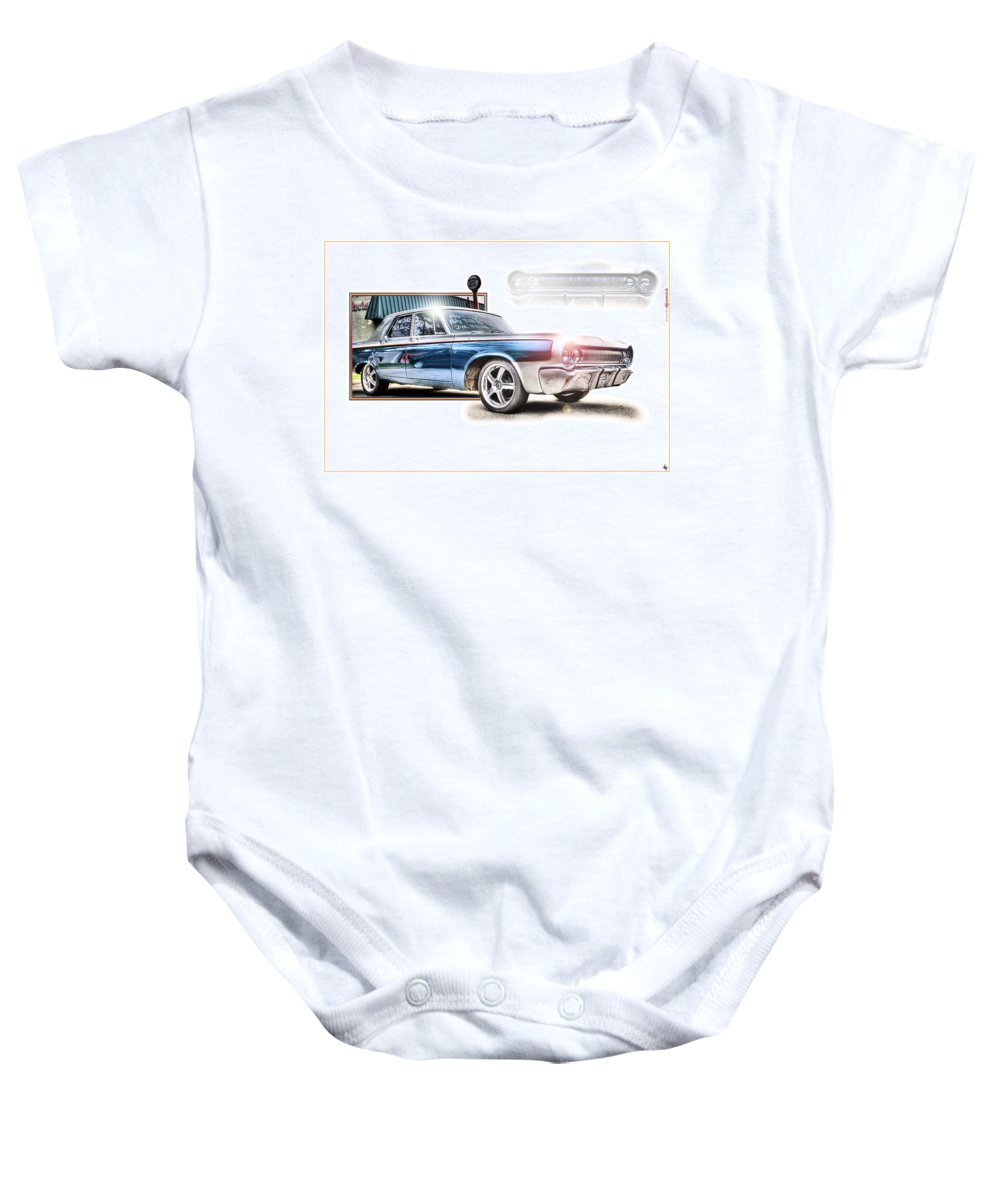 1964 Dodge Baby Onesie featuring the photograph Classic '64 Dodge Oakland County Mi by A And N Art