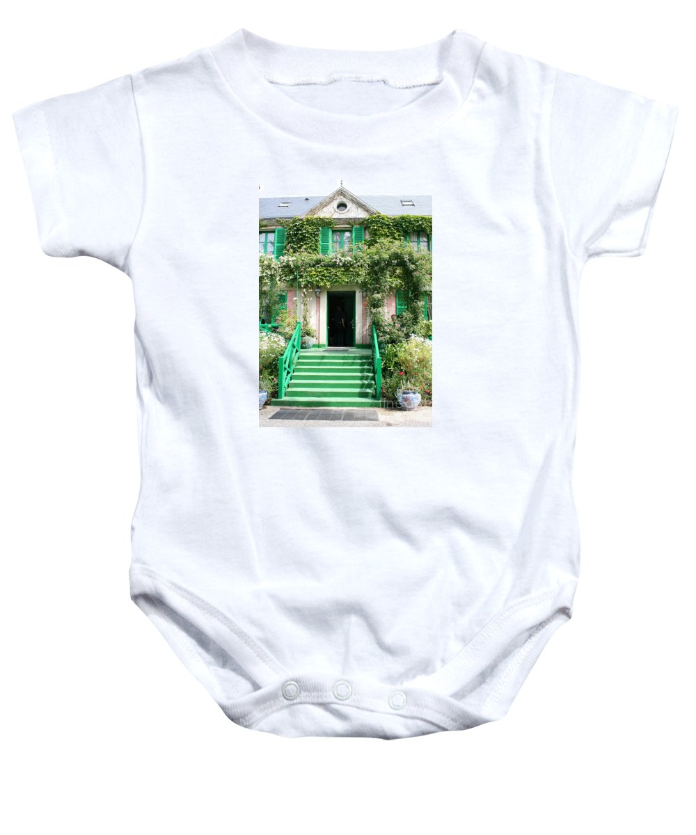 Claude Monet Baby Onesie featuring the photograph Claude Monets Home by Christiane Schulze Art And Photography