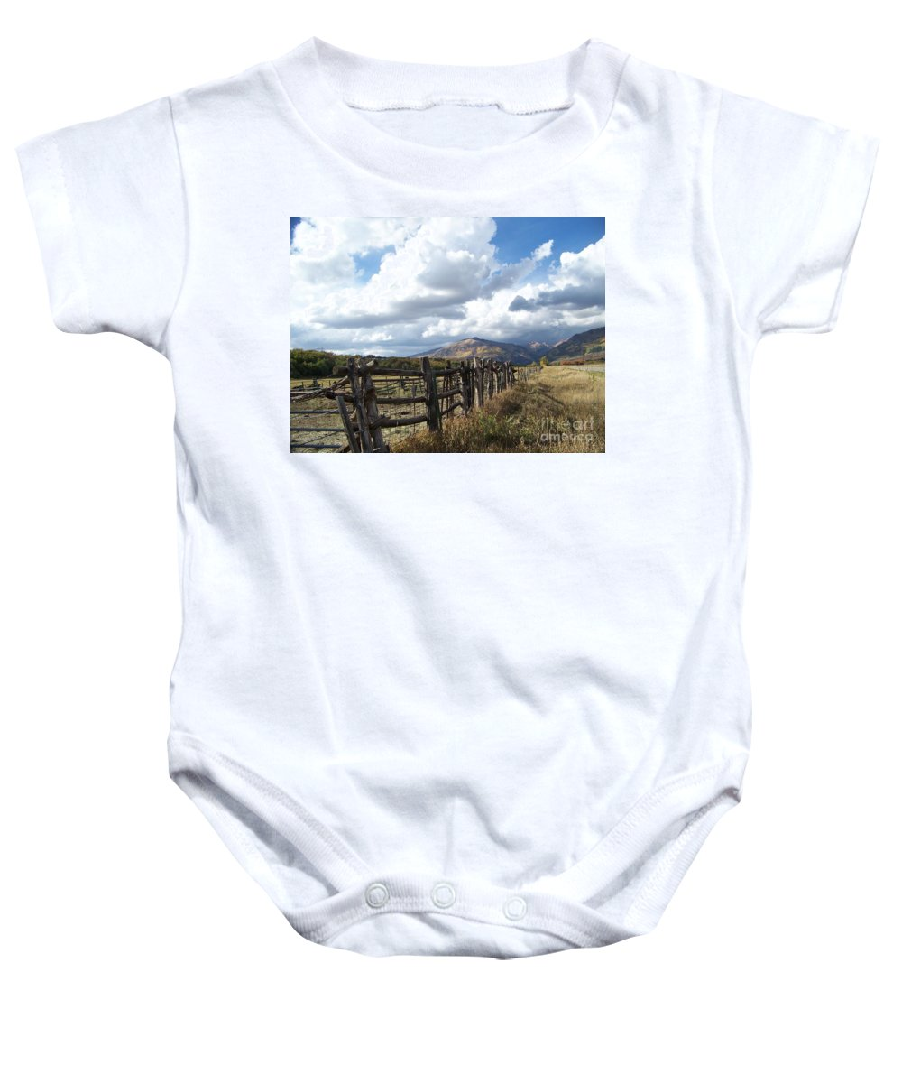 Mountains Baby Onesie featuring the photograph Colorado In Autumn by Jewell McChesney
