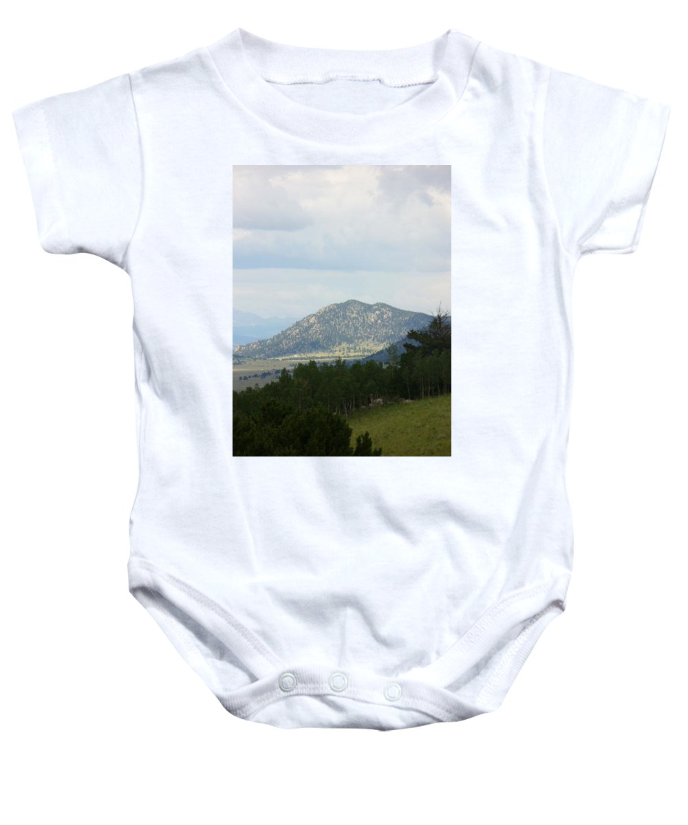 Lyle Baby Onesie featuring the painting Colorado Mont by Lord Frederick Lyle Morris