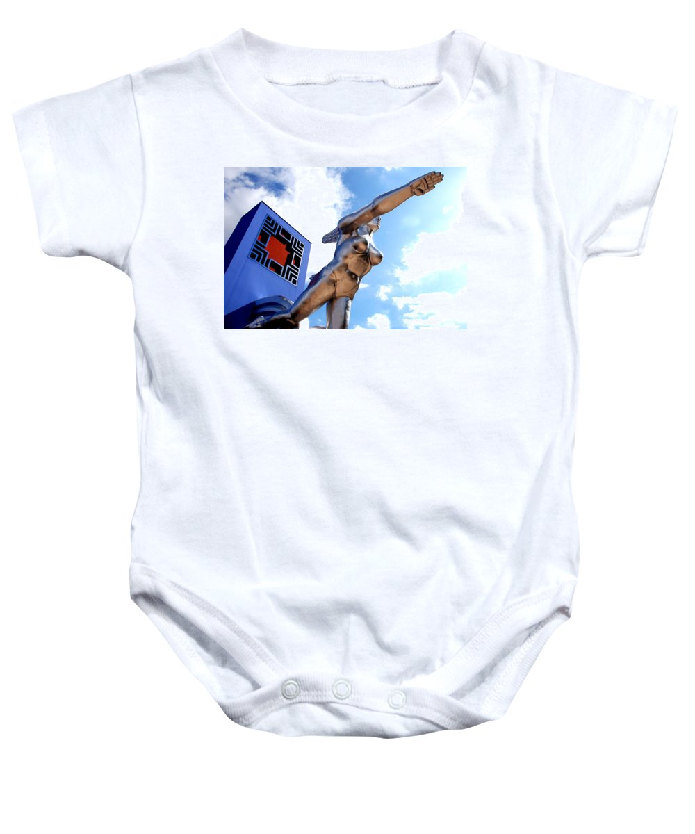 Tenor Baby Onesie featuring the photograph Contralto 15 by Charlie Brock