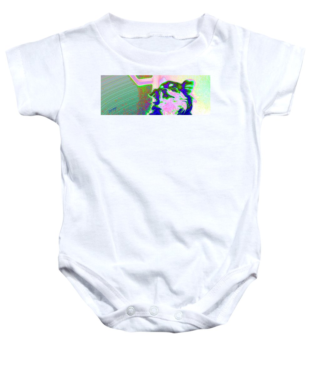 Pop Baby Onesie featuring the photograph Cosmic Consciousness by Del Gaizo