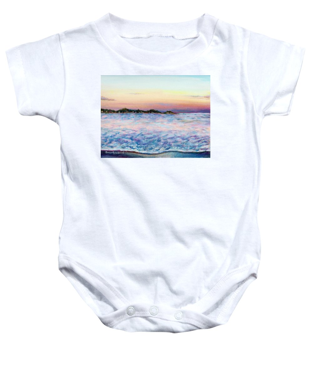 Ocean Baby Onesie featuring the painting Cotton Candy Waters by Shana Rowe Jackson