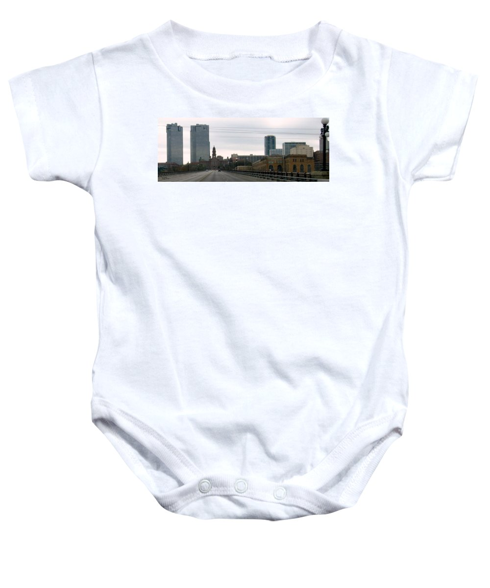 Fort Worth Texas Baby Onesie featuring the photograph Courthouse Fort Worth Texas by Amy Hosp
