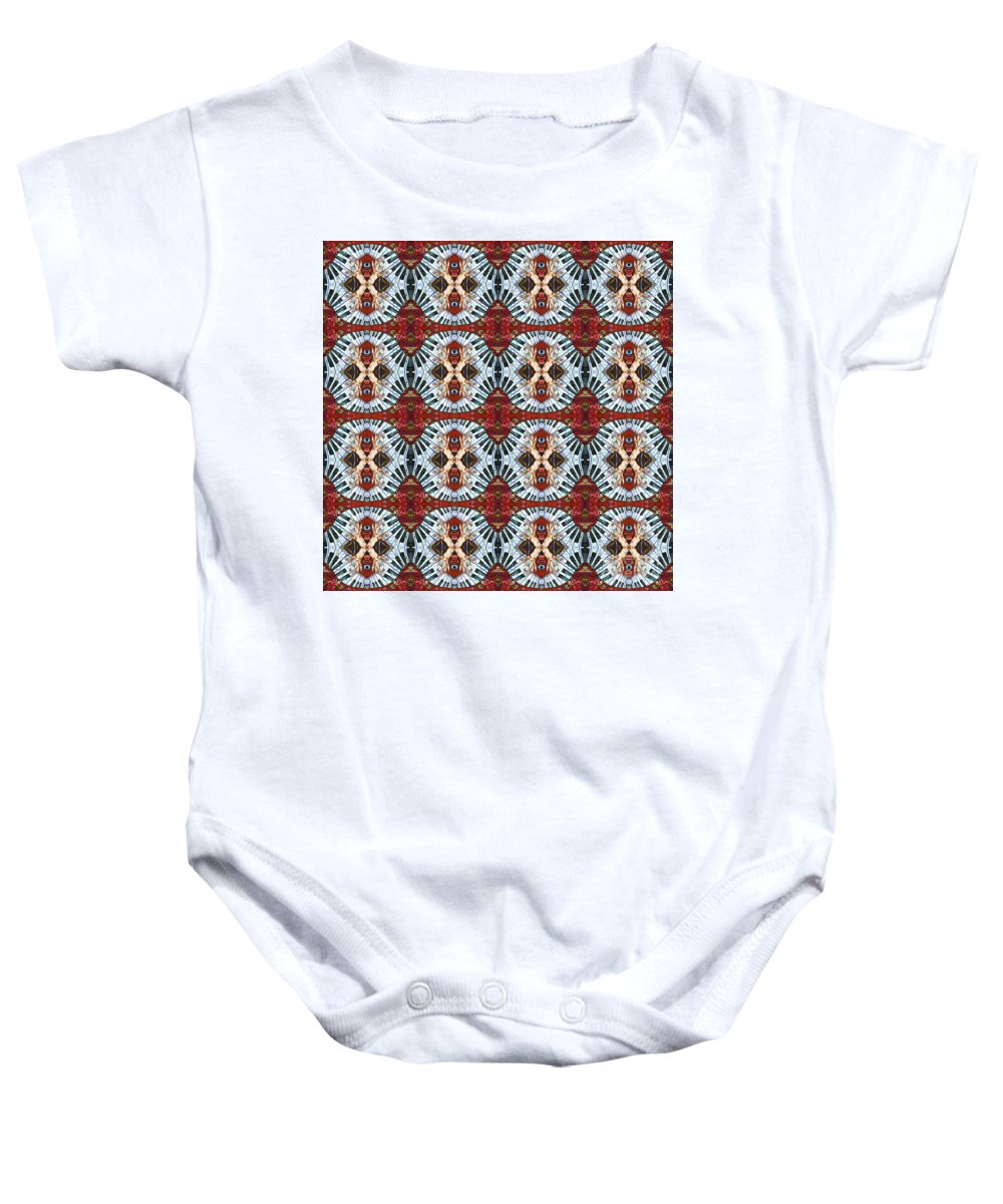 Pianos Baby Onesie featuring the painting Crazy Fingers Piano Repeat by Sue Duda