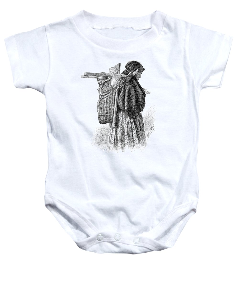 History Baby Onesie featuring the photograph Cree Indian Squaw And Papoose by British Library