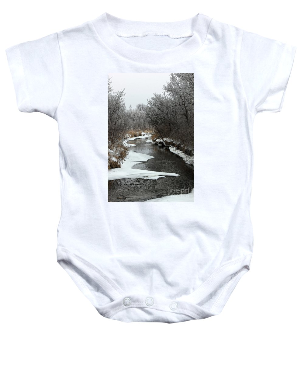 Baby Onesie featuring the photograph Creek Mood by Debbie Hart