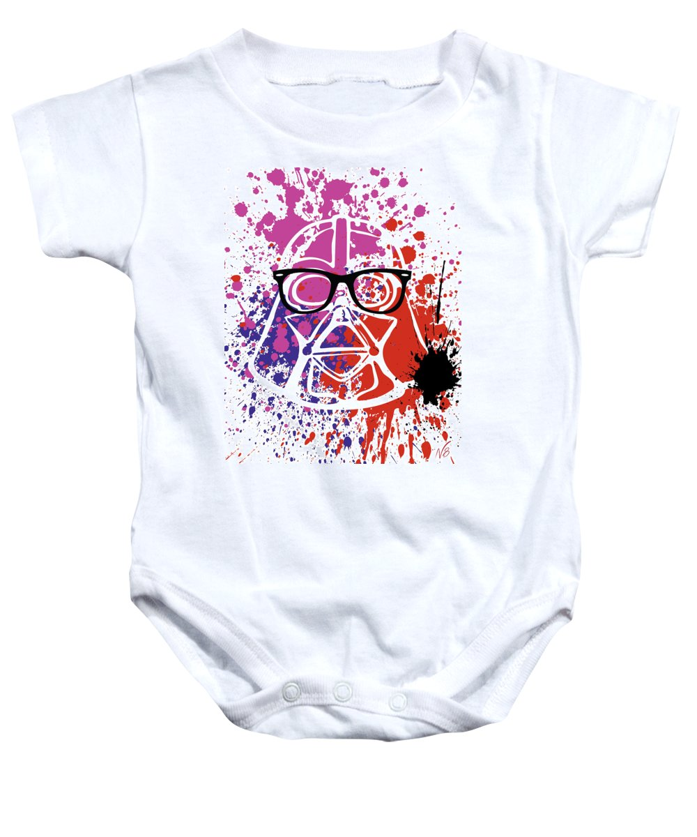 Darth Vader Baby Onesie featuring the digital art Darth Vader Corrective Lenses by Decorative Arts