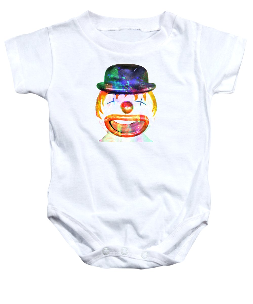 Clown Baby Onesie featuring the painting Dead Clown by The Artist Project