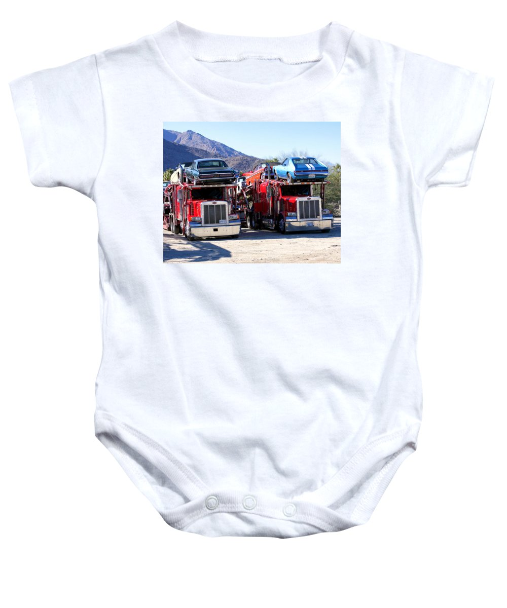 Baby Onesie featuring the photograph Detroit Iron 1 by William Dey