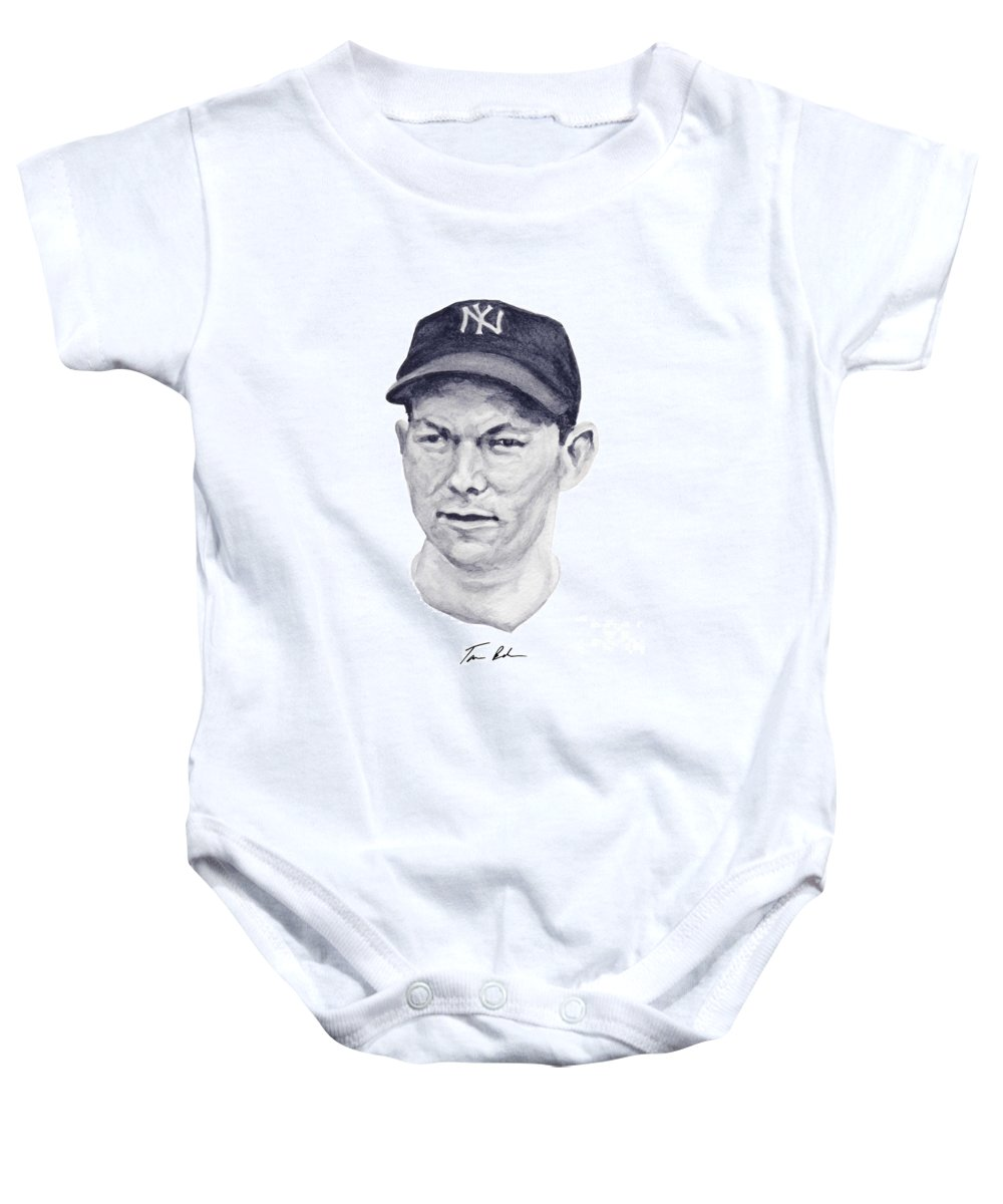 Bill Dickey Baby Onesie featuring the painting Dickey by Tamir Barkan