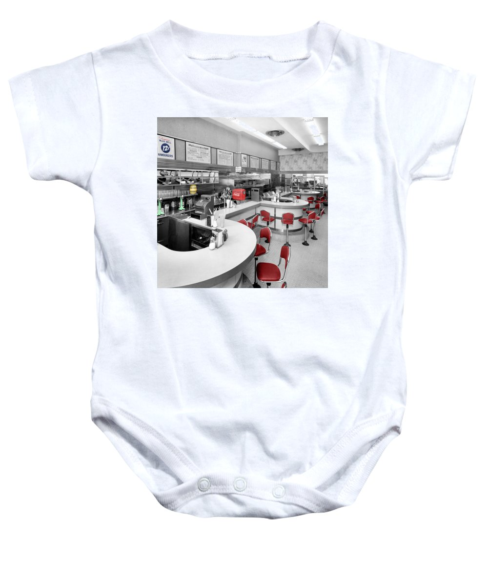 Diner Baby Onesie featuring the photograph Diner 3 by Andrew Fare