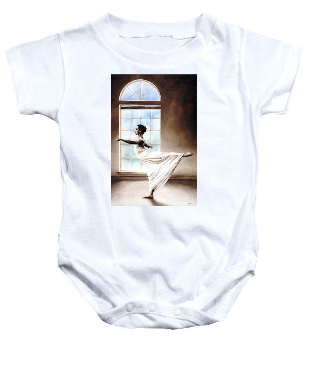 Dance Baby Onesie featuring the painting Divine Grace by Richard Young