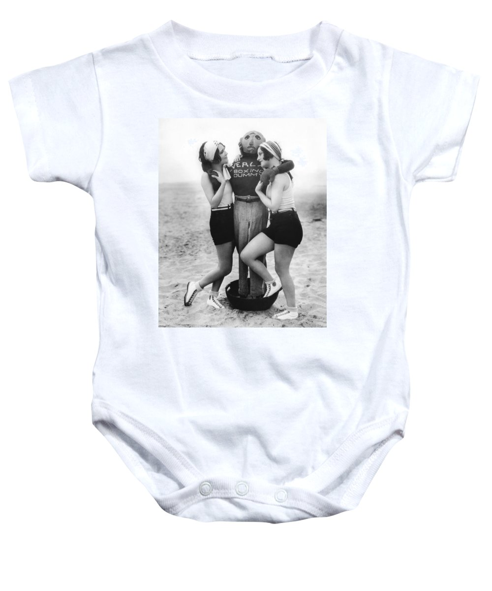 1927 Baby Onesie featuring the photograph Dorothy Sebastian And Crawford by Underwood Archives