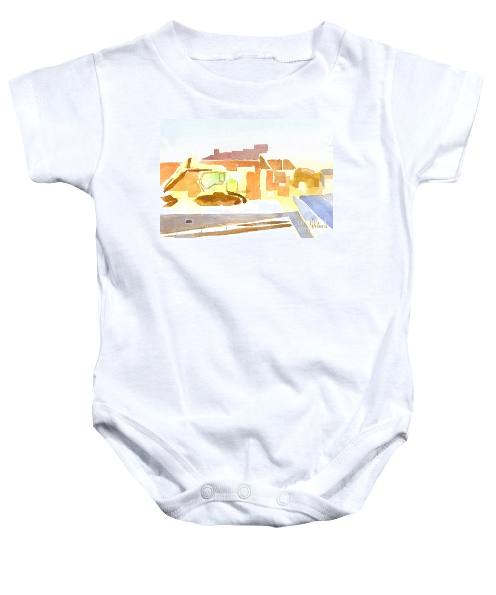 Dozing At The Kozy Baby Onesie featuring the painting Dozing The Kozy  by Kip DeVore