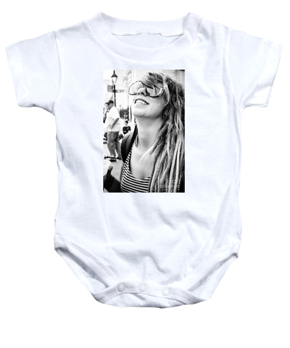 French Quarter Baby Onesie featuring the photograph Dreadfully Happy In Nola by Kathleen K Parker