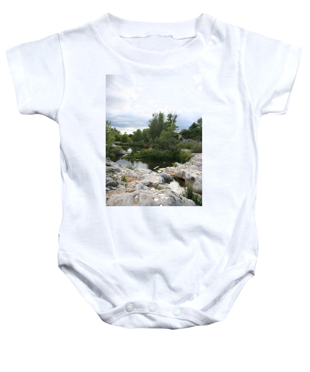 Stones Baby Onesie featuring the photograph Dreamy River by Christiane Schulze Art And Photography