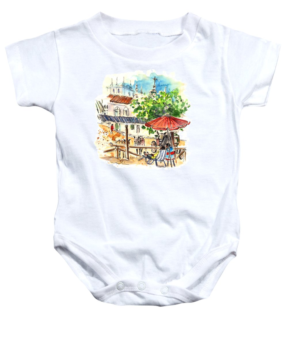Travel Baby Onesie featuring the painting El Rocio 01 by Miki De Goodaboom